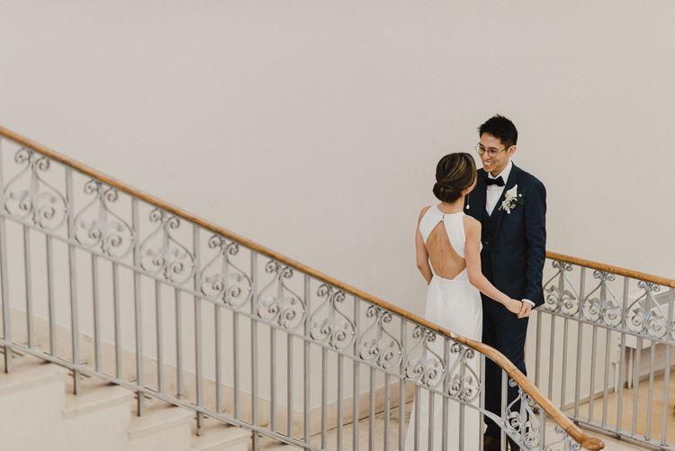 Bride and Groom First Look Meeting