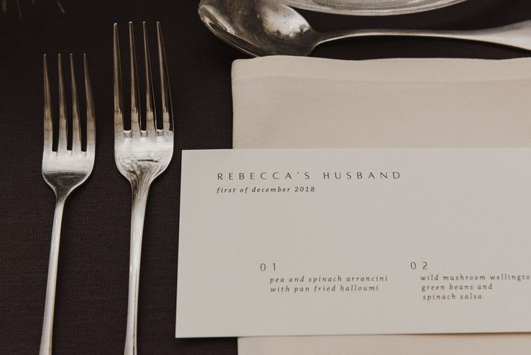 Minimalist Vine In The Wild Place Setting Card