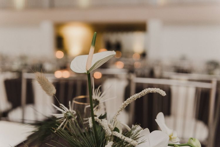 Single Lily Stem Wedding Flower Centrepiece
