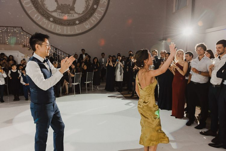 Bride and Groom Performing their First Dance