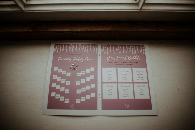 Socially distanced wedding seating plan