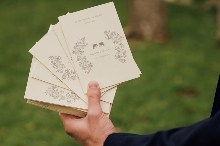Elephant Motif For Wedding Stationery
