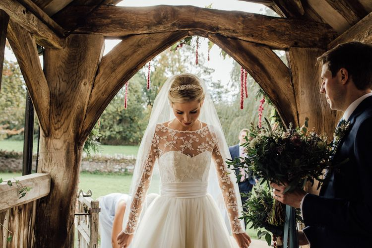Autumnal Wedding At Dewsall Court With Elephant Motif On Stationery And Bride In Tiara With Images From Red On Blonde Photography And Film From Mrs Mashup