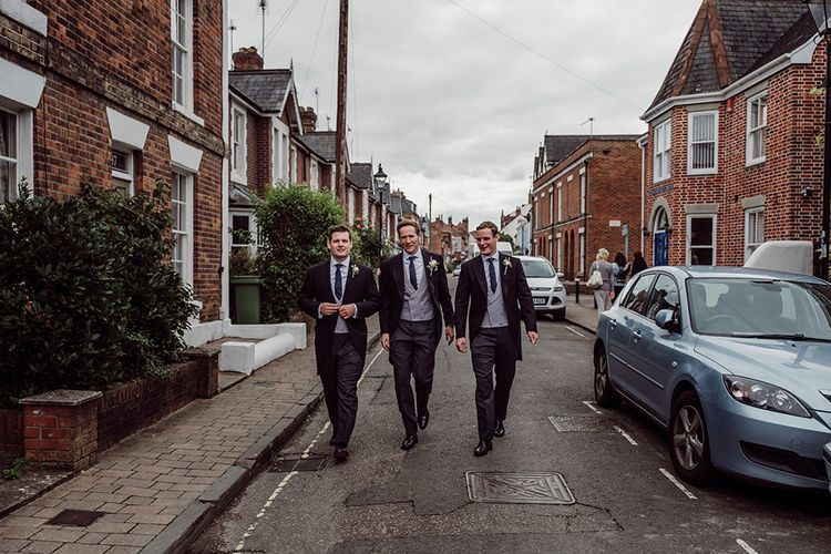 Groomsmen on Their Way | Traditional Wedding at Lainston House Hotel, Hampshire | RMW The List Supplier Jason Mark Harris Photography