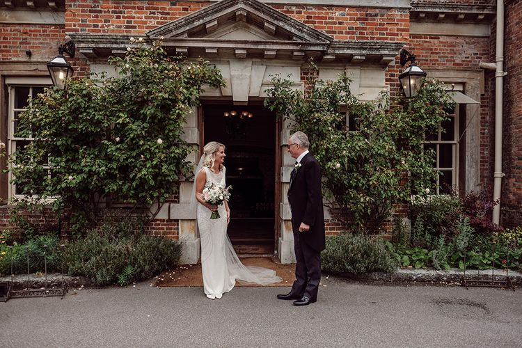 Bride wears Jenny Packham from Brides Dress Revisited | Traditional Wedding at Lainston House Hotel, Hampshire | RMW The List Supplier Jason Mark Harris Photography