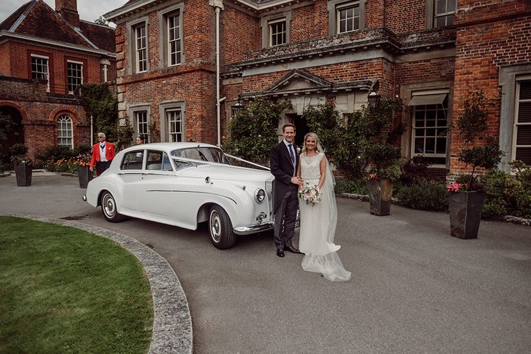 Wedding Transport from Just Rolls | Bride wears Jenny Packham from Brides Dress Revisited | Blush Pink and White Flowers by Arcade Flowers | Groom wears Morning Suit from Buckleigh of London | Traditional Wedding at Lainston House Hotel, Hampshire | RMW The List Supplier Jason Mark Harris Photography
