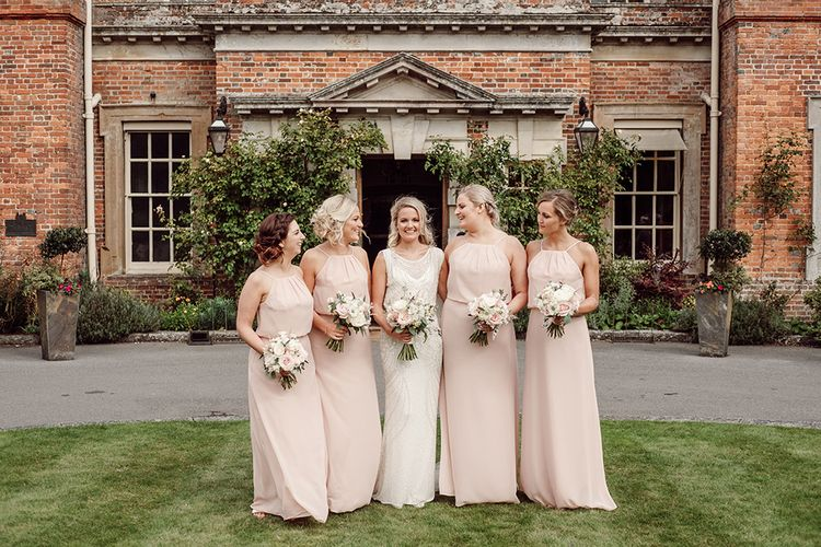 Bridesmaids in Sorella Vita from Victorias Bridal Boutique | Traditional Wedding at Lainston House Hotel, Hampshire | RMW The List Supplier Jason Mark Harris Photography