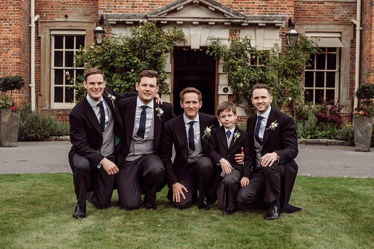 Groom and Groomsmen in Morning Suits from Buckleigh of London | Traditional Wedding at Lainston House Hotel, Hampshire | RMW The List Supplier Jason Mark Harris Photography