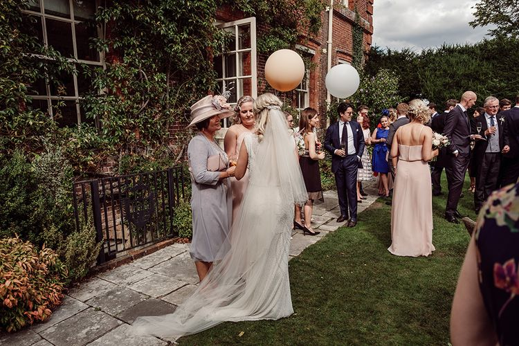 Balloons | Bride wears Jenny Packham from Brides Dress Revisited | Traditional Wedding at Lainston House Hotel, Hampshire | RMW The List Supplier Jason Mark Harris Photography