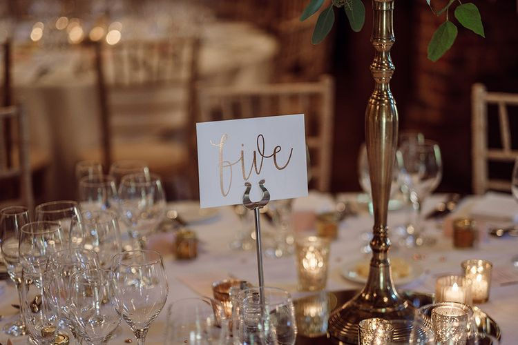 Blush Pink White and Foil Stationery by Amanda Michelle | Traditional Wedding at Lainston House Hotel, Hampshire | RMW The List Supplier Jason Mark Harris Photography