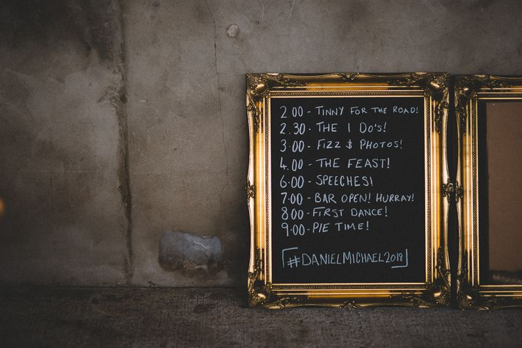 Chalkboard Sign For Wedding // Carrie Lavers Photography