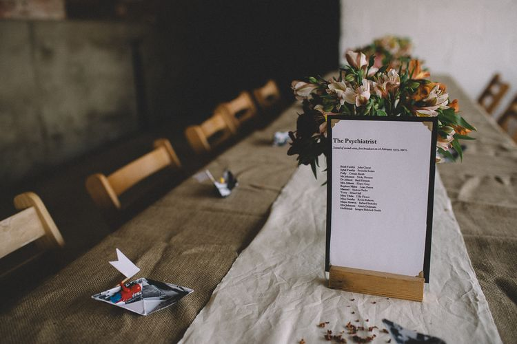 Wedding Table Names // Carrie Lavers Photography