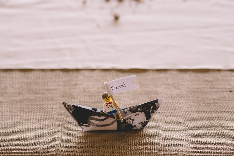 Lego Place Setting For Wedding // Carrie Lavers Photography