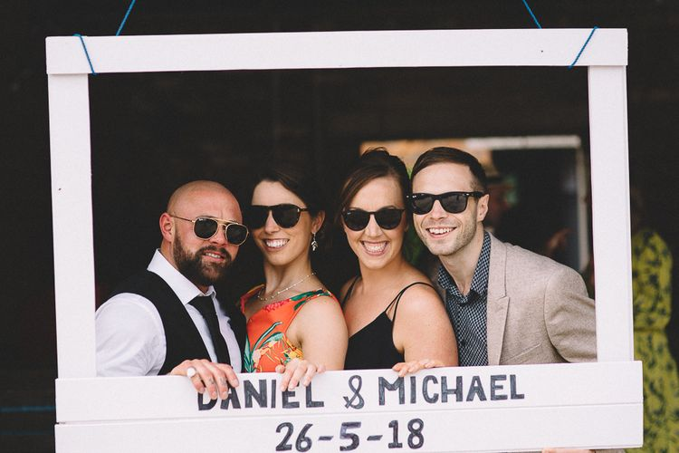 DIY Photo Booth For Wedding // Carrie Lavers Photography