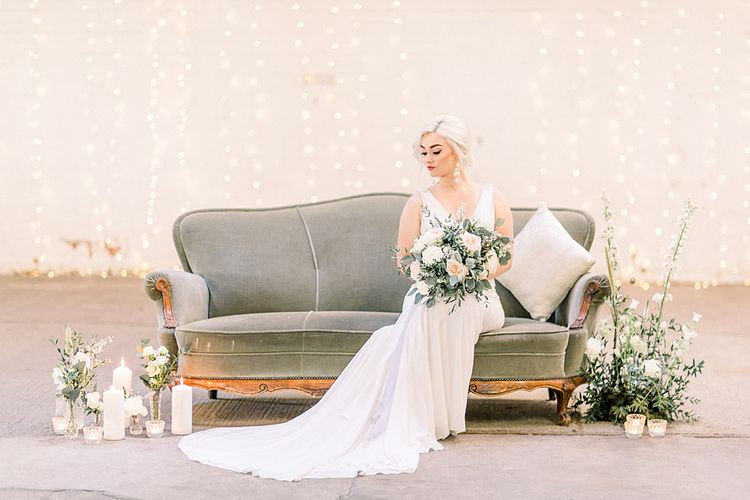 Chill Out Area for Powder Blue & Luxury Gold Wedding Inspiration Planned & Styled by Hayley Jayne Weddings & Events and Photographed by Terri & Lori Fine Art Photography & Film Studio