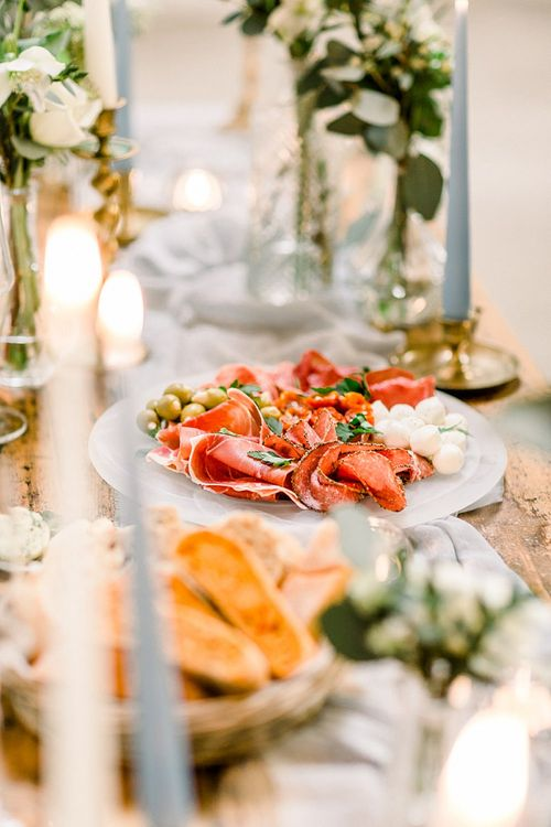 Food Sharing Platter for Powder Blue & Luxury Gold Wedding Inspiration Planned & Styled by Hayley Jayne Weddings & Events and Photographed by Terri & Lori Fine Art Photography & Film Studio