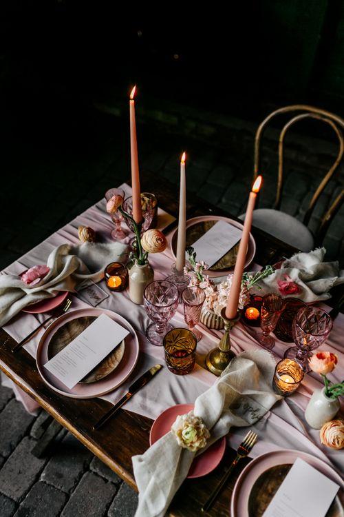 Blush Pink Wedding Table Decorations