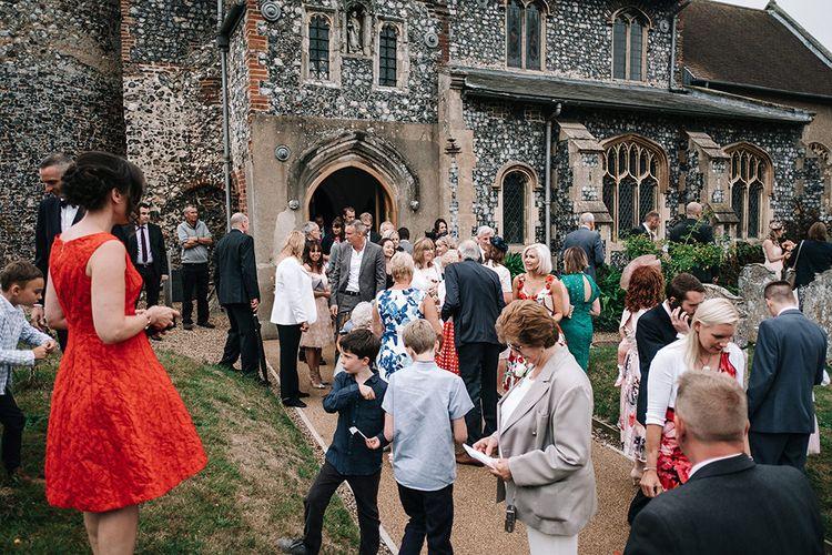 Church Wedding | Peach Wedding at Swanton Morley House and Gardens in Norfolk |  Jason Mark Harris Photography | Together we Roam Films