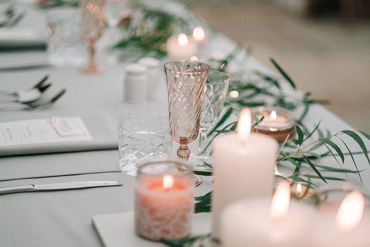 Elegant Table Decor | Peach Wedding at Swanton Morley House and Gardens in Norfolk |  Jason Mark Harris Photography | Together we Roam Films