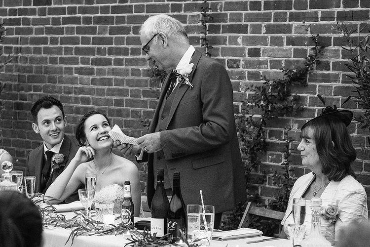 Wedding Speeches | Peach Wedding at Swanton Morley House and Gardens in Norfolk |  Jason Mark Harris Photography | Together we Roam Films