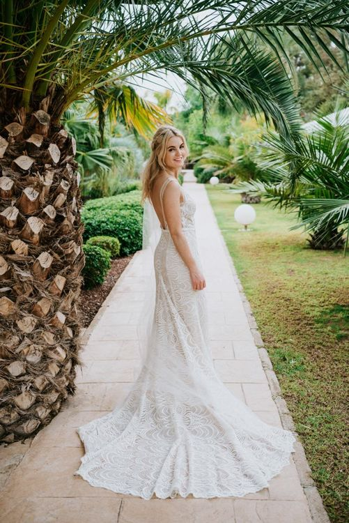 Low back lace detail Made With Love Bridal dress