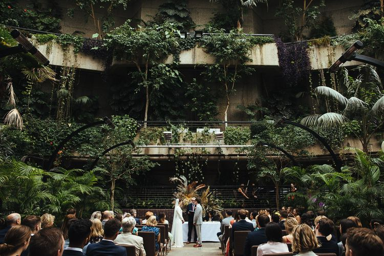Wedding Ceremony at Barbican Conservatory in London