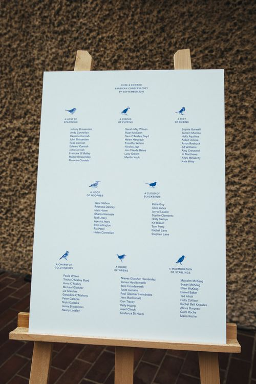 Table Plan with Bird Graphics