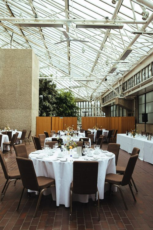 Wedding Reception at Barbican Conservatory in London