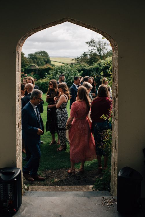 Wedding Guests Gathering Before The Wedding Ceremony