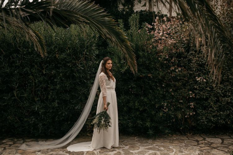 Boho Bride in Donatelle Godart Wedding Dress
