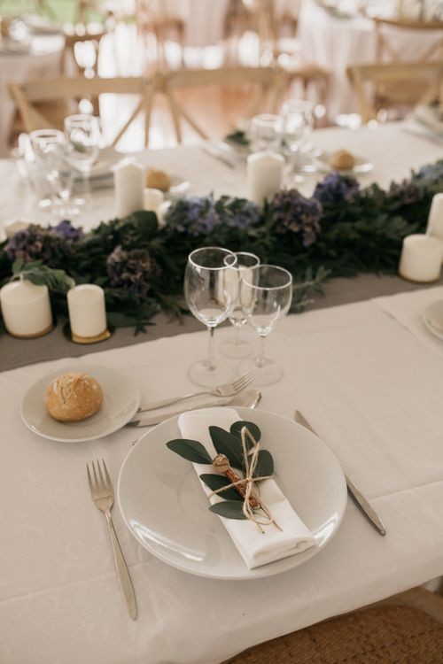Elegant Place Setting with Olive Branch