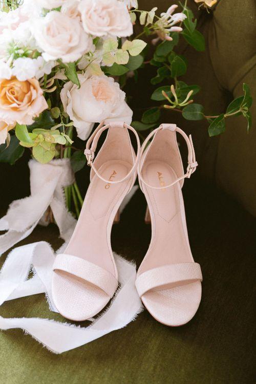 Nude wedding shoes for Shilstone House wedding