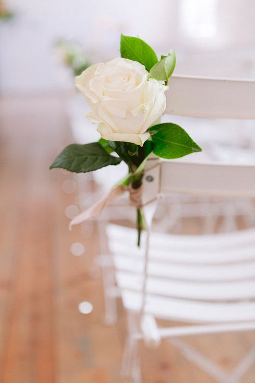 Simple chair decor at Shilstone House wedding ceremony