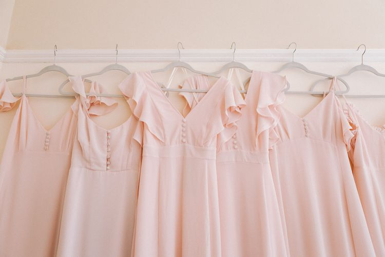 Maids to Measure pink bridesmaid dresses