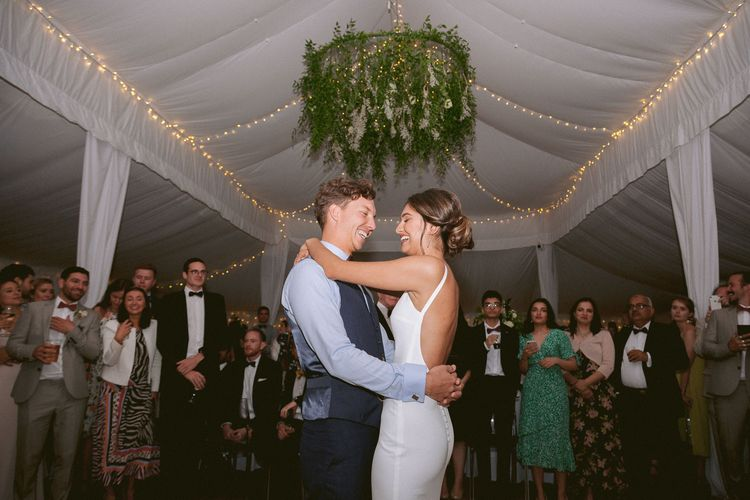 Bride and groom first dance at Shilstone House wedding