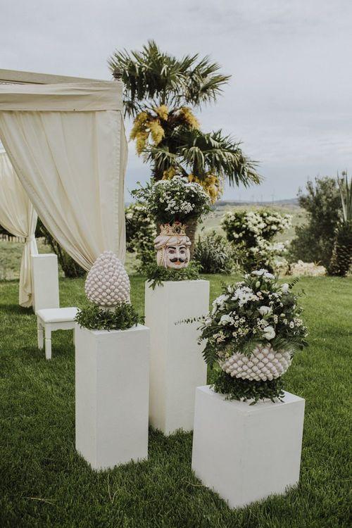 Sicilian wedding decor