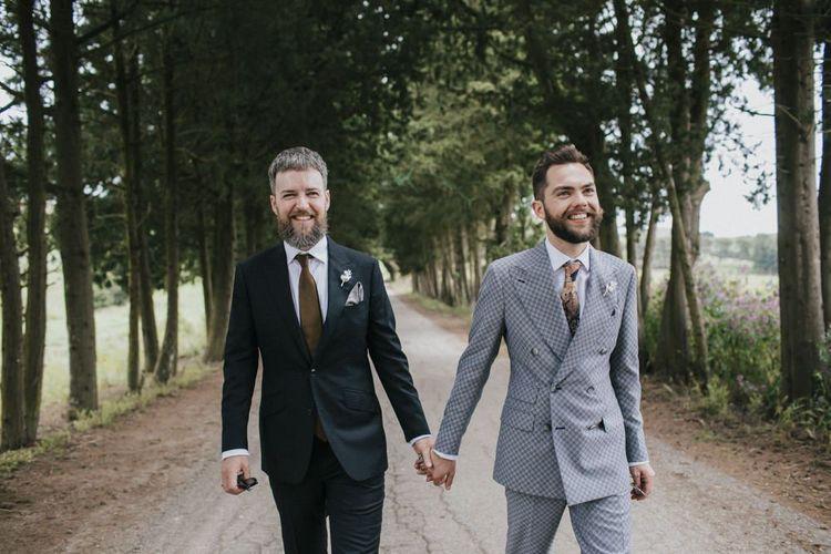 Grey groom suit for Italian wedding