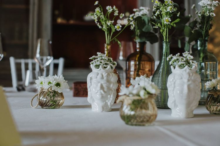 Sicilian wedding table decor