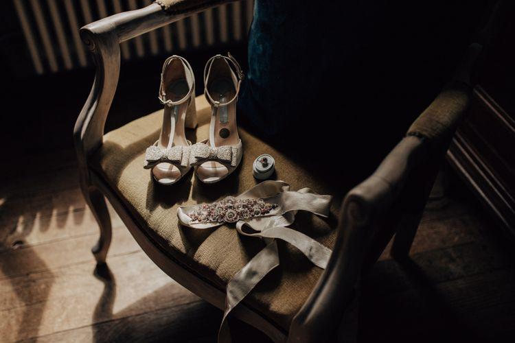 Charlotte Mills T-bar wedding shoes