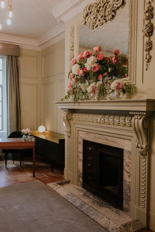 Fireplace at Pimlico room at Old Marylebone Town Hall
