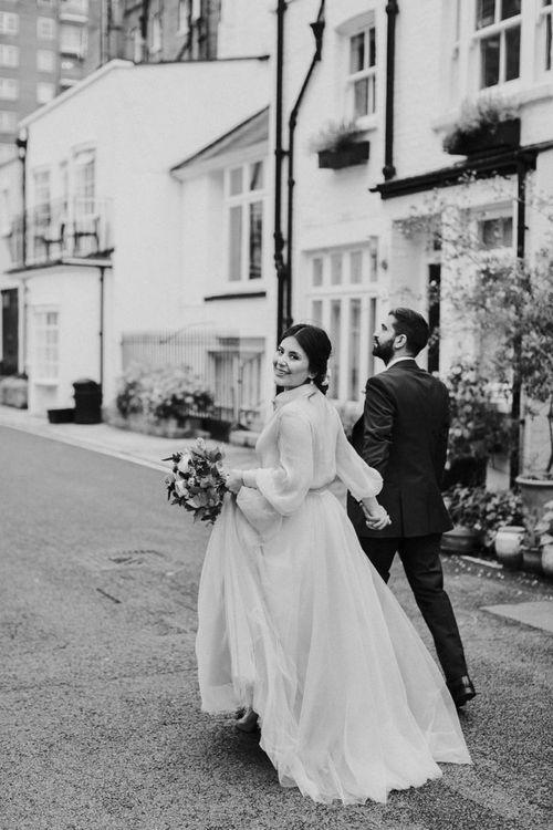 Black and white bridal portrait by Maja Tsolo Photography