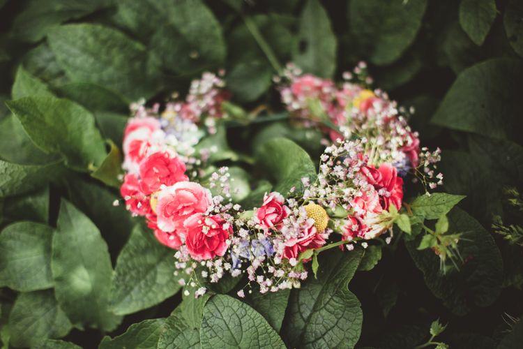 Colour Flower Crown | Bright Festival Themed Outdoor Ceremony & Tipi Weeding |  Maryanne Weddings | Framed Beauty Film