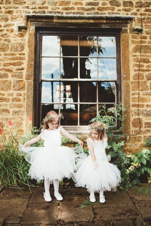 Flower Girls in Monsoon Kids Tutus | Bright Festival Themed Outdoor Ceremony & Tipi Weeding |  Maryanne Weddings | Framed Beauty Film