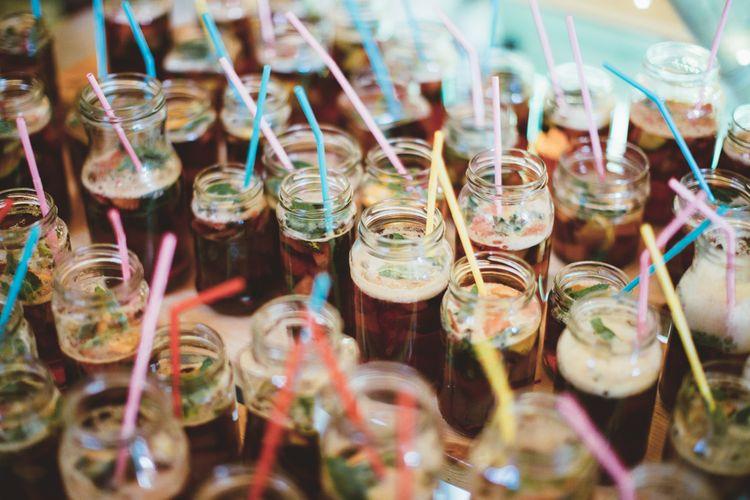 Pimms | Bright Festival Themed Outdoor Ceremony & Tipi Weeding |  Maryanne Weddings | Framed Beauty Film