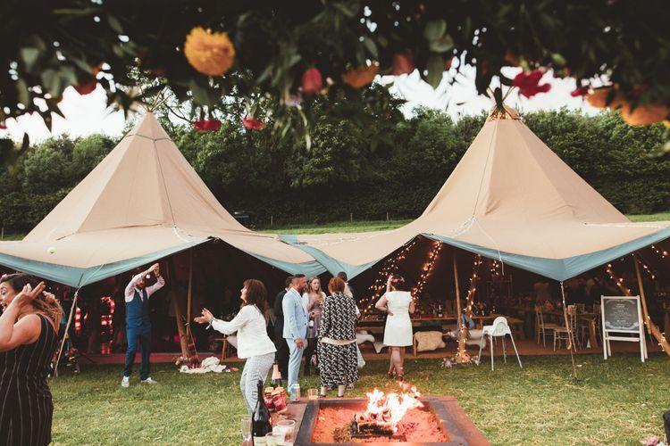 Bright Festival Themed Outdoor Ceremony & Tipi Weeding | Maryanne Weddings | Framed Beauty Film