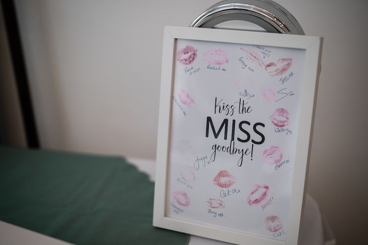 Kiss The Miss Goodbye Framed Gift