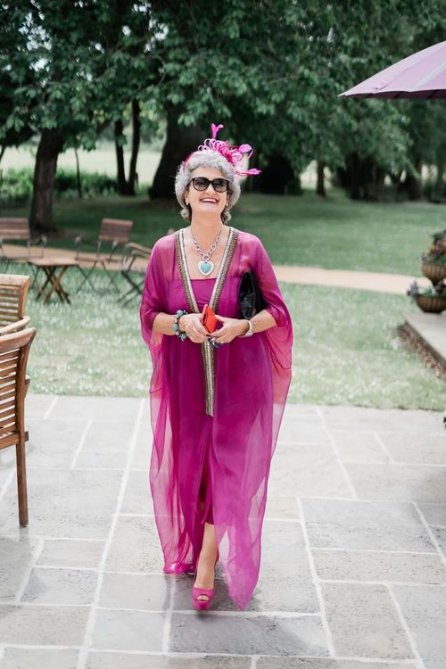 Stylish Wedding Guest in Fushia Pink Outfit