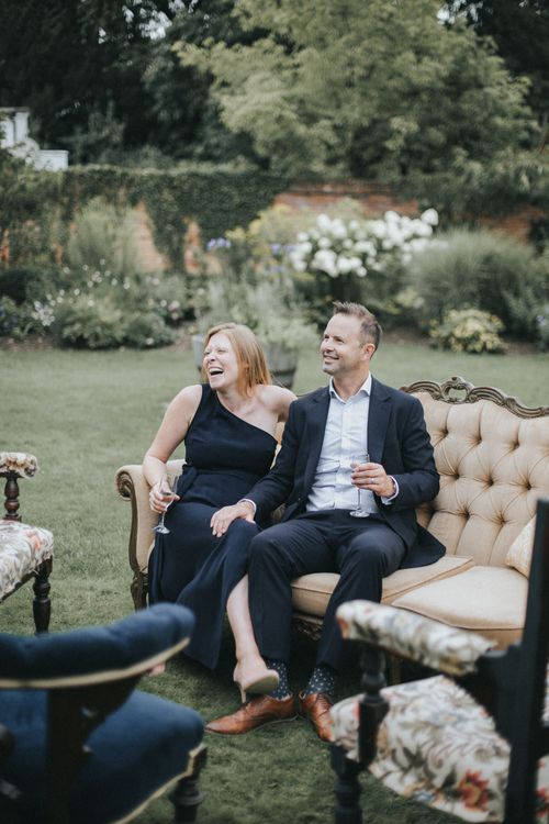 Wedding Guests | Intimate Wedding at The Olde Bell Pub, Berkshire | Revival Rooms Floral Design, Decor & Styling | Grace Elizabeth Photo & Film