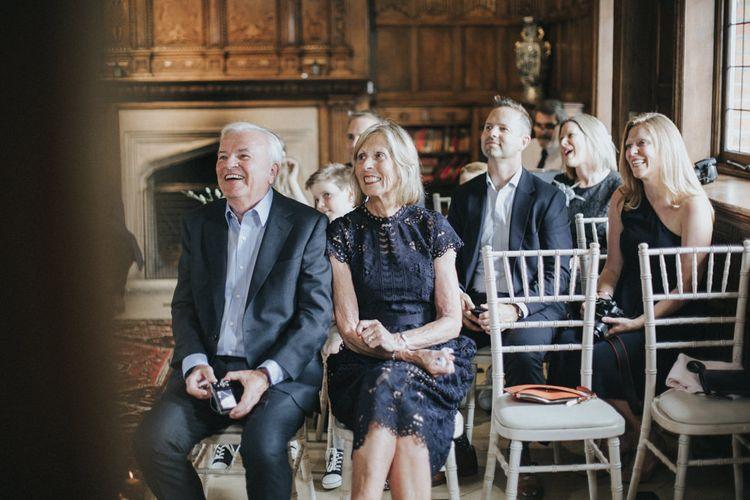 Wedding Ceremony | Intimate Wedding at The Olde Bell Pub, Berkshire | Revival Rooms Floral Design, Decor & Styling | Grace Elizabeth Photo & Film