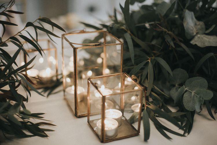 Candle Light Wedding Decor | Intimate Wedding at The Olde Bell Pub, Berkshire | Revival Rooms Floral Design, Decor & Styling | Grace Elizabeth Photo & Film